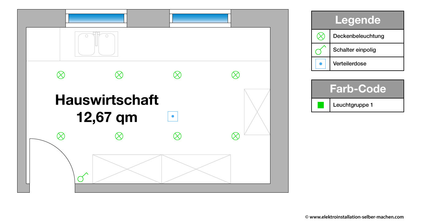 Niedlich 1 Licht 2 Schalter Galerie - Der Schaltplan - triangre.info