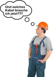 Elektroinstallation, Handwerker, welches Kabel?, Elektroinstallateur, Kabelarten, Kabel verlegen